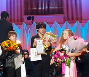 "Maxim Lando takes first place at the TV Kultura's 16th International ""Nutcracker"" Competition for Young Musicians, in Moscow, Russia"