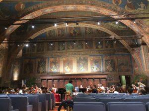 Amy rehearsing in Italy