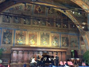 Solomon playing chamber music in Italy